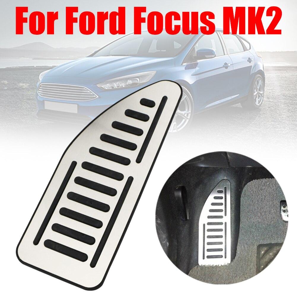 Placa de pie de acero inoxidable cubierta de reposapiés Pedal de coche para Ford Focus 2 MK2 Kuga Escape