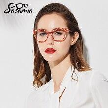 SASAMIA Cat Eye Glasses Frame Women Eyeglasses Clear Prescription Spectacle Optical Frames Acetate M