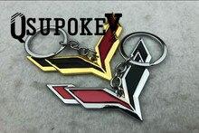 Chevrolet Corvette-porte-clés en métal   Porte-clés créatif et personnalisé avec Logo Double face pour Chevrolet
