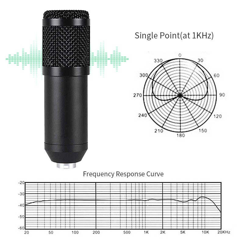 Condenser Microphone with sound card USB interface Stereo Studio Mic Professional Recording Microphone for chatting Gaming asmr enlarge