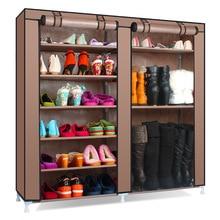 Couleur unie Double rangées de haute qualité chaussures armoire chaussures support grande capacité chaussures rangement organisateur étagères bricolage meubles de maison