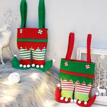 Christmas Decorations Elf Bags Candy Bags Santa Gift Bags Holiday Party Supplies