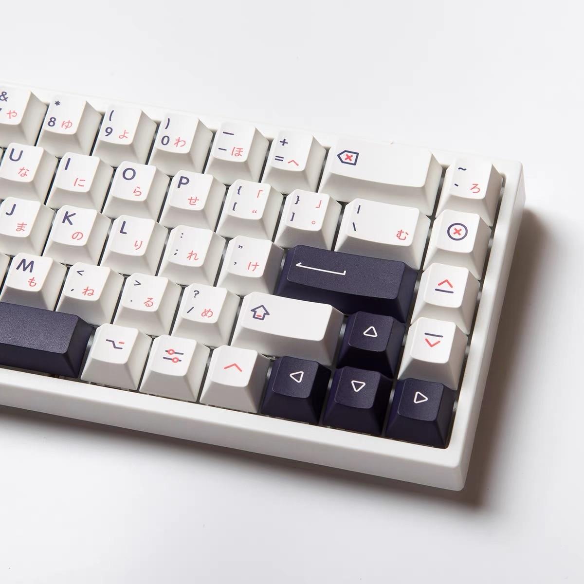 Колпачки для клавиш PBT 139, черные и белые колпачки для механической клавиатуры GMMK Pro