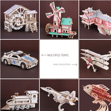 Bricolage 3D en bois Revolver avec élastique balle avion voiture en bois pistolet Puzzle jeu populaire cadeau jouet pour enfants enfants adultes