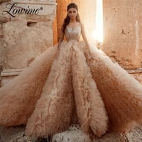 champagne long prom dresses couture beads celebrity dresses a line tulle puffy arabic evening gowns special occasion party dress