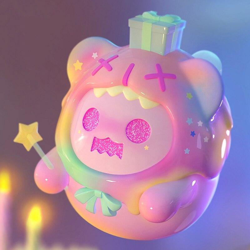 Cute Cartoon Bauble Model Ghost Bear Looking for Unicorn Trend Kid Doll Birthday Gift Blind Random Box