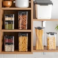 airtight food storage jars plastic refrigerator crisper transparent kitchen milk powder moisture proof organizer tank grain box