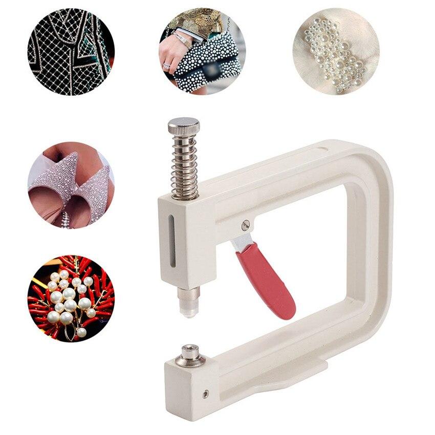 1 conjunto manual máquina de miçangas roupas pregado grânulo máquina diy artesanal tricô pérola chapéu casa grânulo máquina costura ferramentas