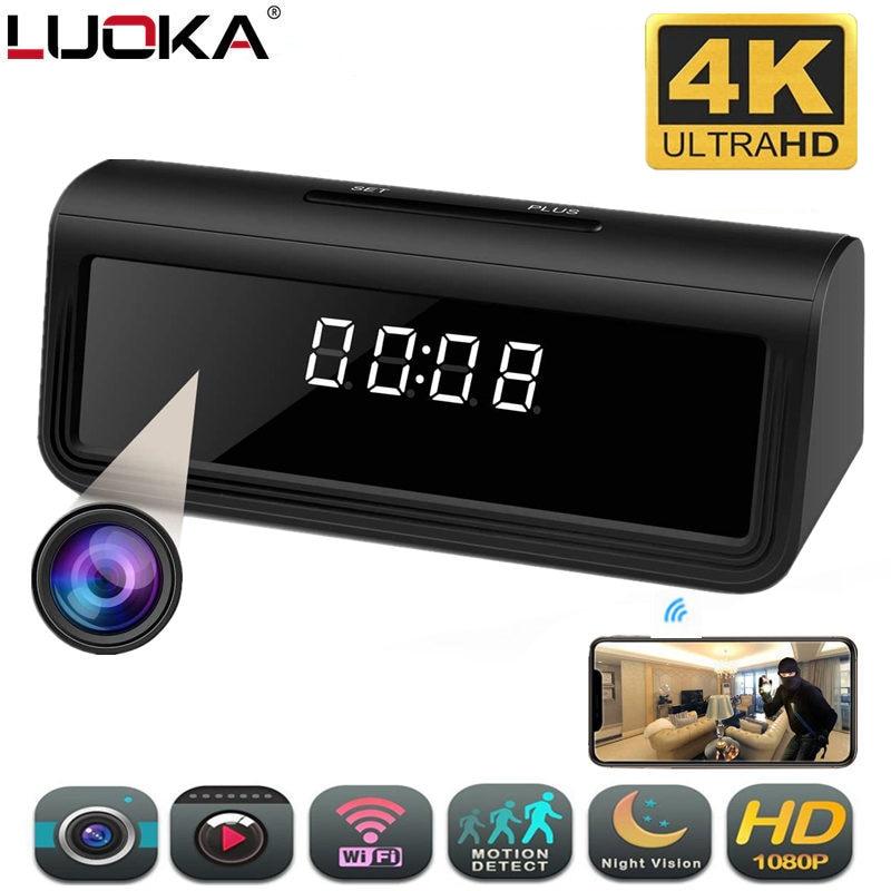 wifi Secret Clock micro camera 166degree 4K HFD AP Recorder Security Cam Night Vision Motion Detect Camcorder micro camera espia