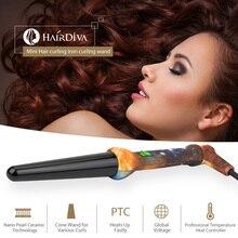 HairDiva lokówki do włosów Waver stożek lokówka elektryczna profesjonalna różdżka lokówka ceramiczna lokówka z rękawicą termiczną