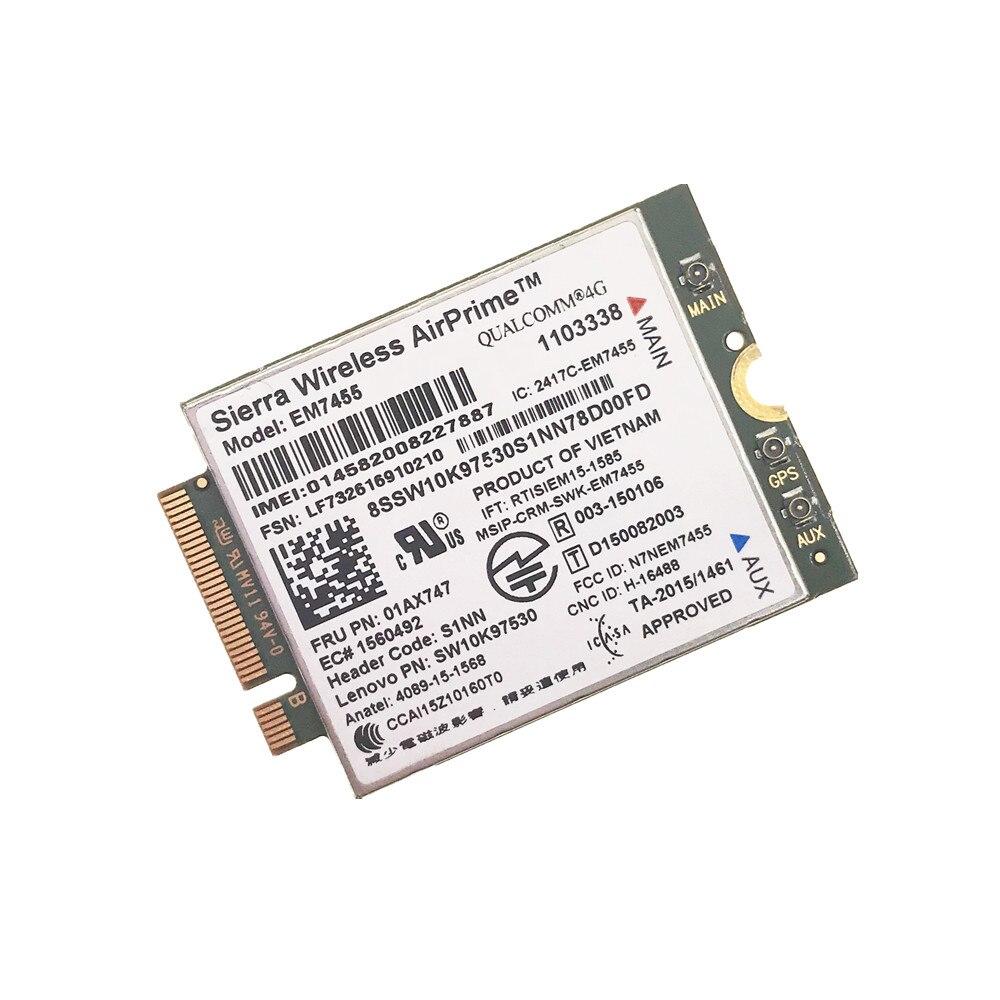 EM7455 FRU 00JT545 00JT542 N/A LTE 3G 4G بطاقة لباد X1 الكربون 5th الجنرال X270 T470 T470S T470P T570 L570 L470 P51 P71