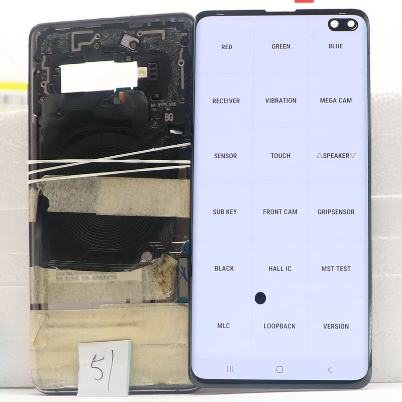 Original AMOLED LCD For SAMSUNG Galaxy S10 Plus S10+ G975 SM-G9750 G975F LCD Display Touch Screen Digitizer Assembly With defect enlarge