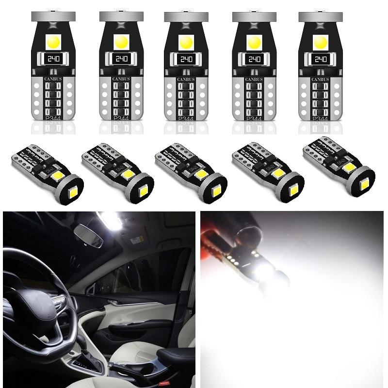 2 uds LED W5W T10 2825 168 SMD 3030 bombilla de luz LED para Mazda 2 3 5 6 CX-5 coche luz para matrícula Auto 12V 12V 6000K blanco