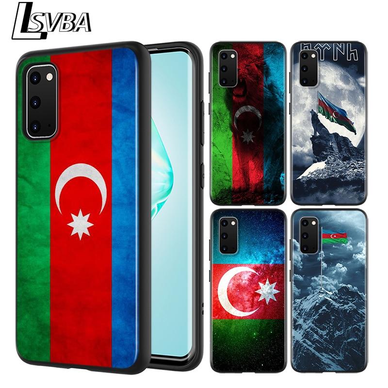 Azerbaiyán bandera negro para Samsung Galaxy S20 Ultra Plus A01 A11 A21 A31 A40S A41 A51 A70S A71 A91 teléfono caso