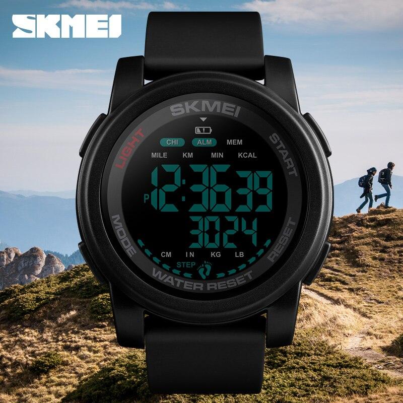 Top Brand SKMEI Luxury Digital Watch Men 50 Bar Waterproof SportWatch Wristwatch Fashion Military Sports Men's Watches Clock