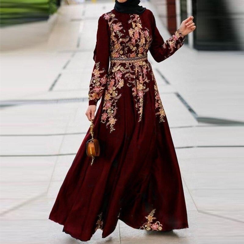 Oriente médio retro elegante vestido longo muçulmano islâmico clothingg abaya saia ramadan vestidos femininos israel turquia robe arábia saudita