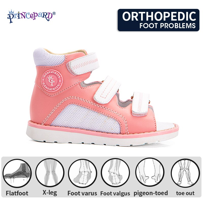 Princepard Orthopedic Kids Shoes 2021 Open Toe Corrective Summer First Walking Sandals for Boys and Girls Flat Feet Arch Support enlarge