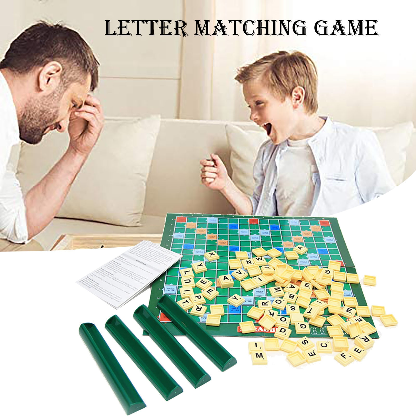 Gioco da tavolo-abbinato de scarabeo para adultos, juguete de aprendizaje original o...