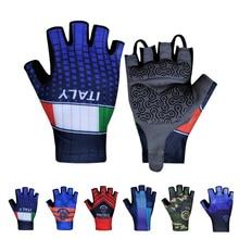 ITALY Bicycle Cycling Gloves Half Finger Breathable Anti Slip Gel Pad MTB Road Bike Gloves Men Women