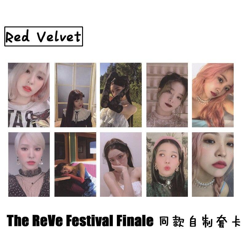 10pcs/set Kpop Red Velvet phorocard New album Festival Finale PSYCHO photo lomo card high quality For fans collection