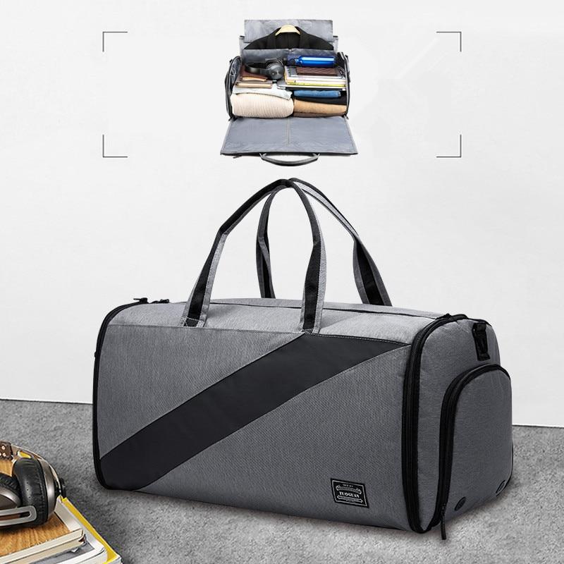 BAKINGCHEF Reise Männer Anzug Tasche 2 in 1 Garment Duffle Business Kleidung Schuhe Crossbody Dokument Elektronik Toilettenartikel Handtasche
