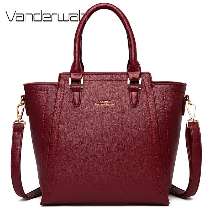 حقيبة يد جلدية ذات سعة كبيرة للنساء ، حقيبة كتف كبيرة ، حقيبة يد مصممة ، 2021