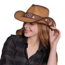 Wome Men New Straw Western Cowboy Hat Gentleman Jazz Sombreros Hombre Cap Elegant Lady Cowgirl Hats