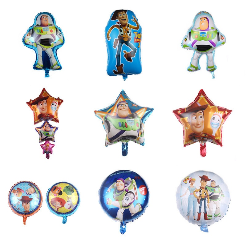 1pcs Toy Buzz Lightyear Balloons cartoon Foil Air Balloon Story Happy Birthday Party decorations Bal