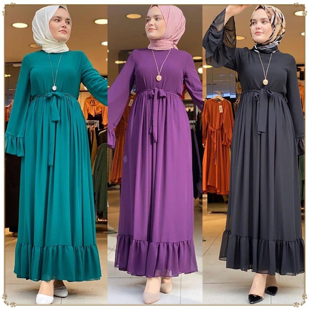 عباية-فستان العيد الإسلامي للنساء المسلمات ، قفطان ، ملابس إسلامية تركية ، رمضان