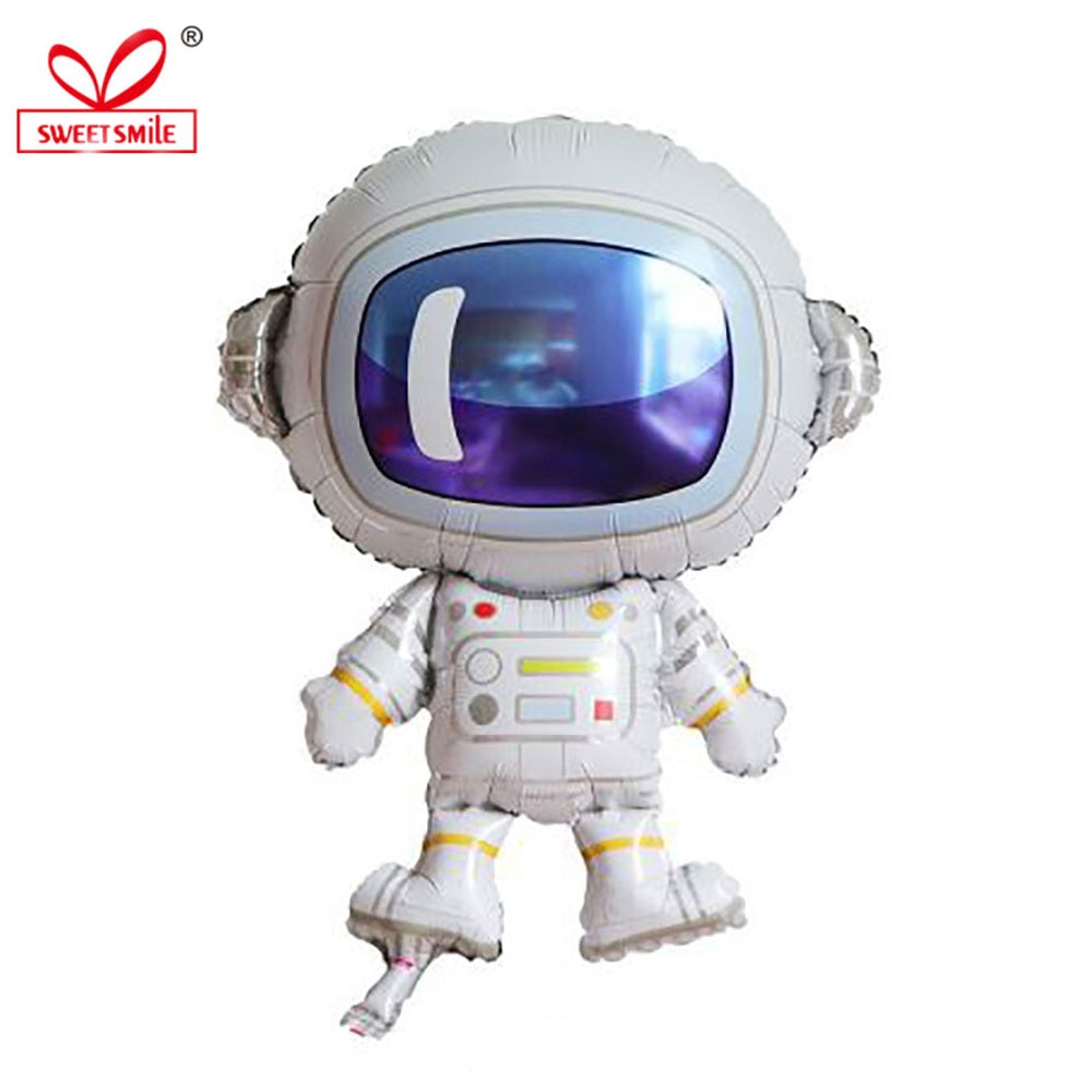 Cartoon Astronaut Spaceship Rocket Foil Balloons Happy Birthday Gifts Decorations Wedding Ballons Baby Shower Party Supplies