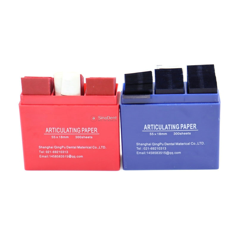 300 Sheets / Box Dental Articulating Paper Strips Blue Red 55*18mm Dental Lab Products Dental Disposable Materials
