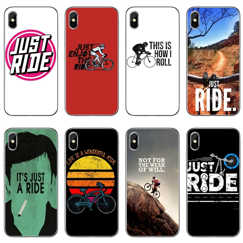 Sólo montar ciclismo bicicletas de silicona funda de teléfono para Xiaomi Redmi S2 7 7A K20 6 6A 5A 4A 4X 5 Redmi Note 8 7 6 5A 4 Pro