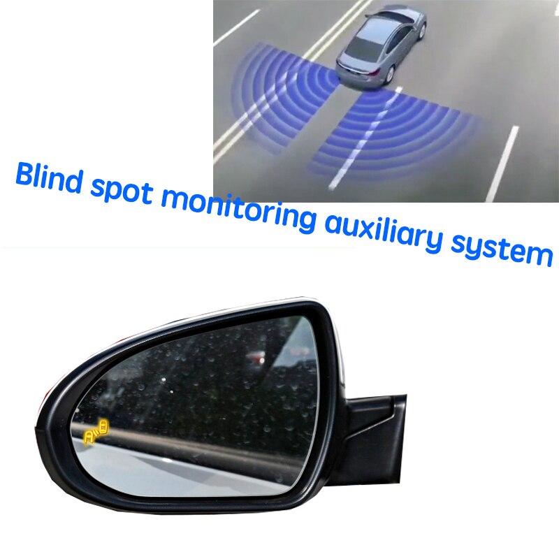 نظام كشف الرادار الخلفي للسيارة BSD BSM BSA لتحديد المناطق العمياء بمرآة للسيارة من Hyundai Elantra Avante AD 2016 ~ 2020