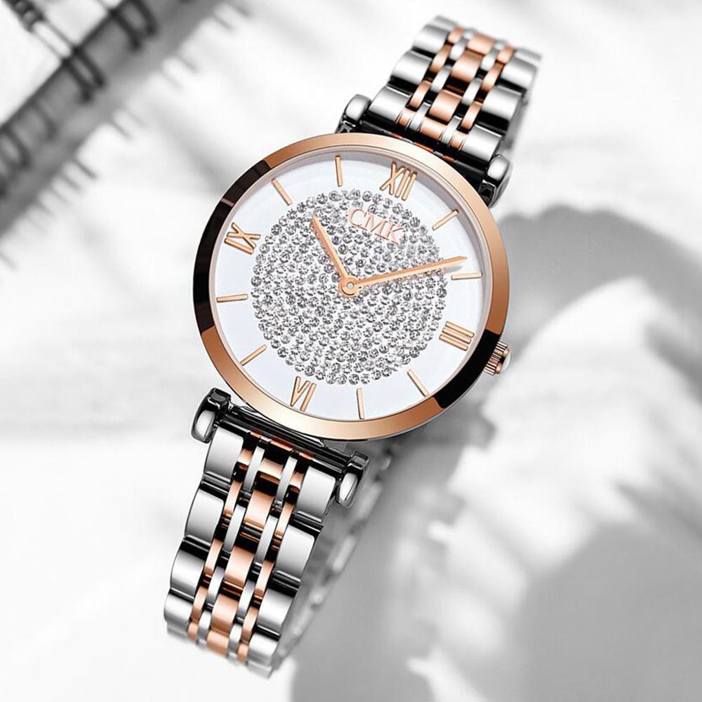 Relojes de marca superior de lujo Simple elegante reloj de mujer zegarek damski reloj de pulsera de acero inoxidable reloj de mujer