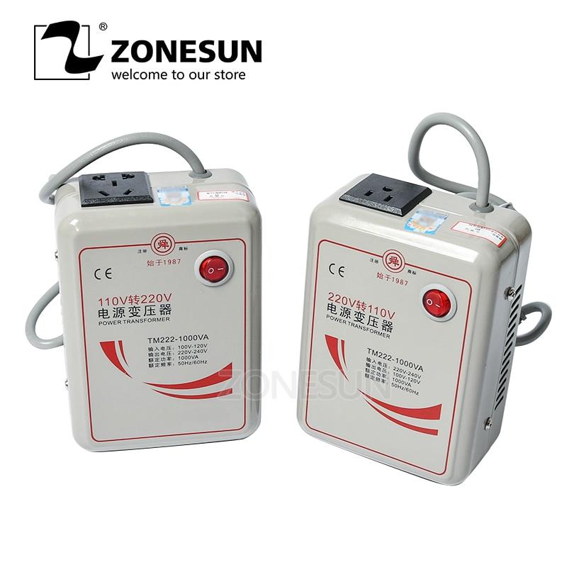ZONESUN 500W 1000W 2000W 3000W Power Transformer 220V Turn 110V to 220V Appliances Voltage Power Converter 50Hz/60Hz
