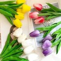 Bouquet de tulipes artificielles  10 pieces 22 couleurs  fausses fleurs  pour decoration de mariage  pour la maison