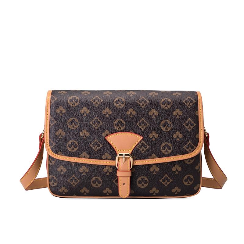 Women's Bag European And American fashion wild printed single shoulder messenger bag female large capacity small square bag