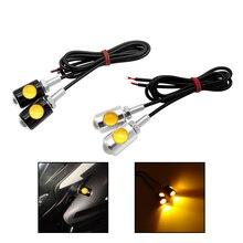 2 Pcs LED รถจักรยานยนต์สัญญาณรถ Super Bright LED จำนวนใบอนุญาต Bolt สกรูไฟท้ายเบรคหมอกหลอดไฟ