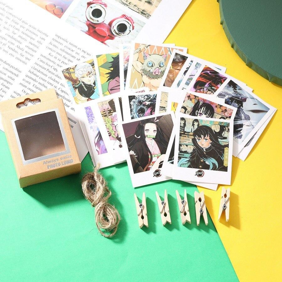 40 unids/caja 6Anime demonio Cazavampiros Kimetsu No Yaiba Kamado Tanjirou Mini tarjetas Artbook Cosplay regalo accesorios de libro, regalos