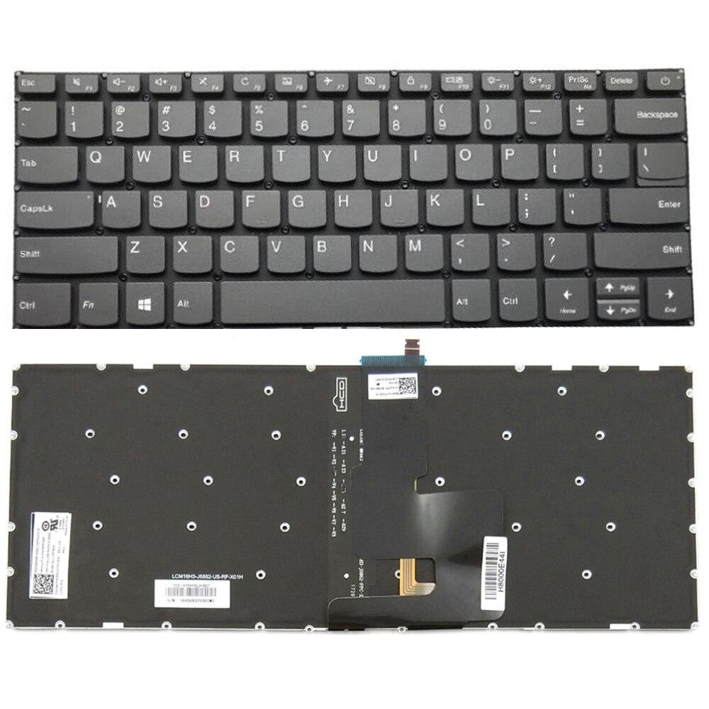 لوحة مفاتيح بديلة لأجهزة Lenovo Ideapad 320-14AST 320-14IAP 320-14ISK 320-14IKB 320S-14IKB كمبيوتر محمول مزود بإضاءة خلفية