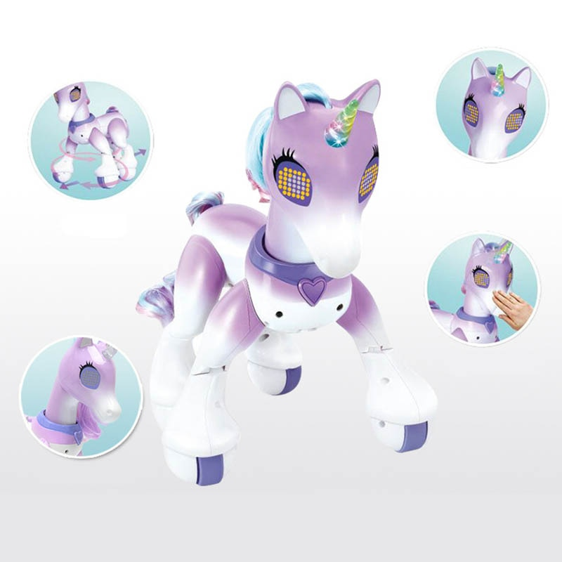 Cartoon Cute Animal RC Horse Unicorn Robot Intelligent Induction Electric Model Pet Educational Toys for children enlarge