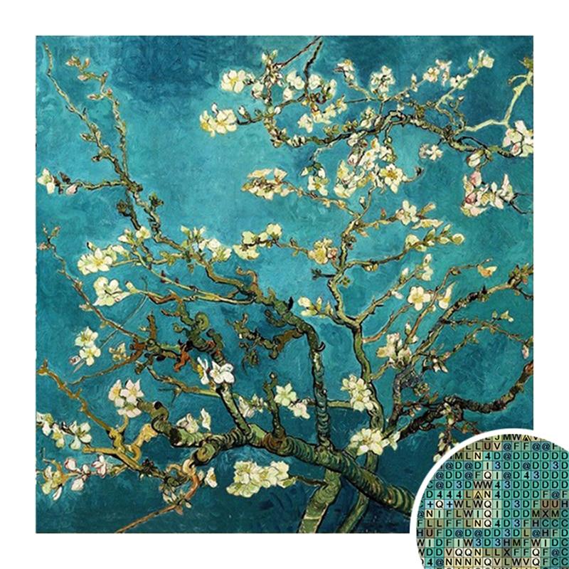 алмазная вышивка рукоделие всемирно известный цветок миндаля Ван Гога Diy Алмазная картина ремесло украшенная гостиная хороший подарок NMX П...