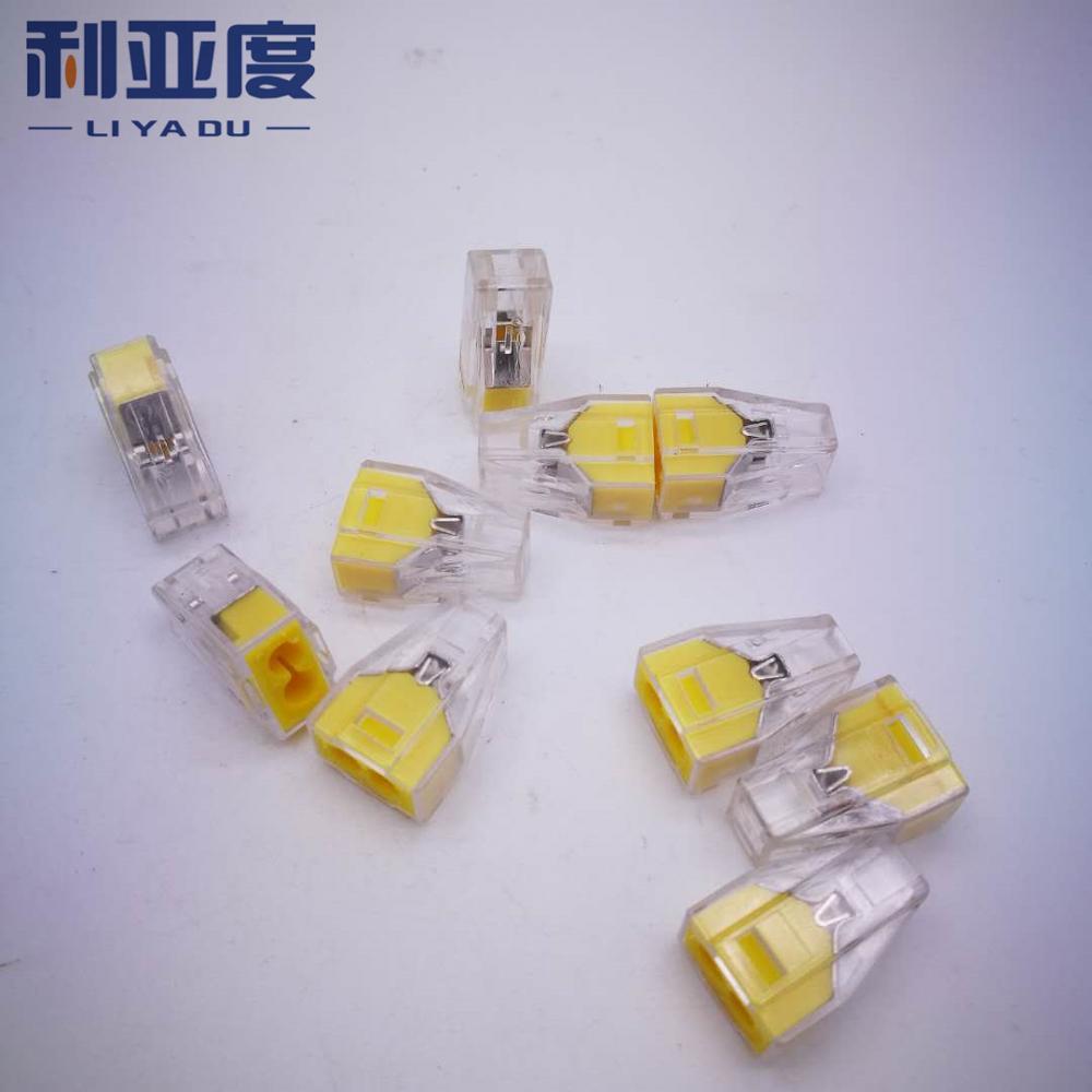 PCT-102 PCT-104 PCT-106 50 unids/lote, conector de cable tipo 2,5, terminales universales, Conector de cable eléctrico enchufable