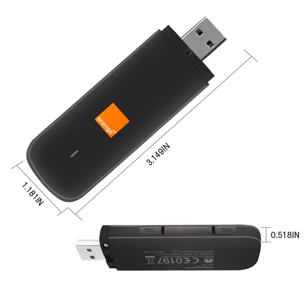 Huawei desbloqueado E3372S-153 LTE/4G 150 Mbps módem de dongle USB negro 2 uds antena