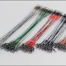 10pcs20Pcs ligne de pêche fil Leaders Interlock Snap pêche leurre sattaque à la pêche dhiver engins accessoires connecteur cuivre pivotant