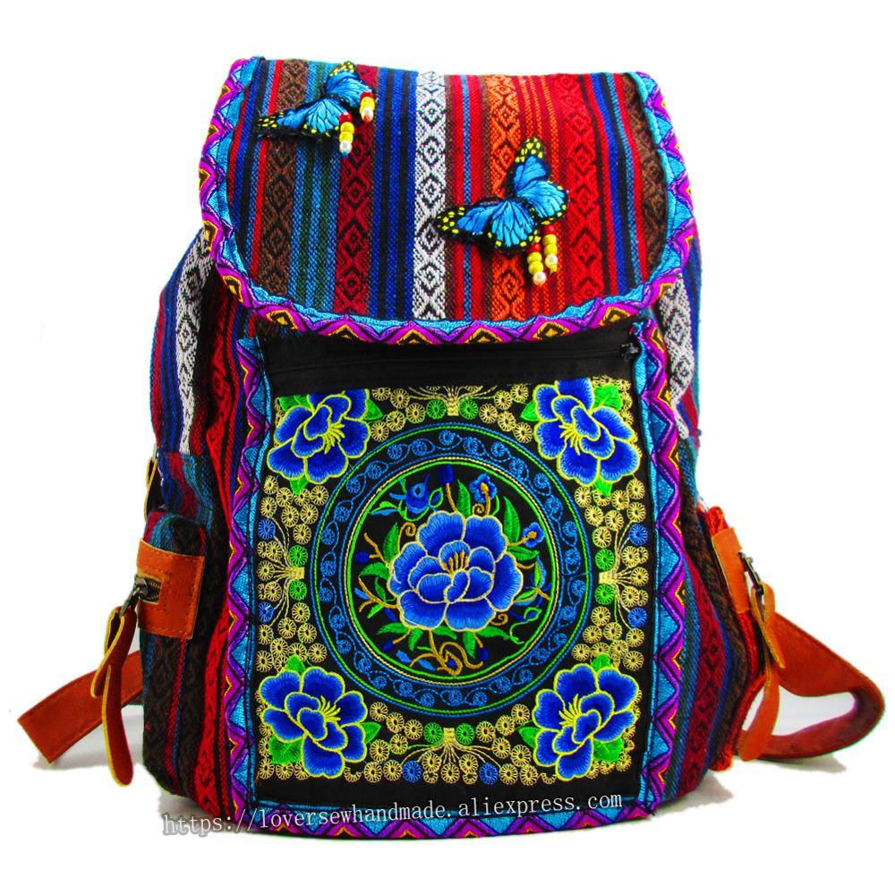 Tribal Vintage Hmong Tay Hint Etnik Boho hippi etnik çanta, sırt çantası sırt çantası SYS-562