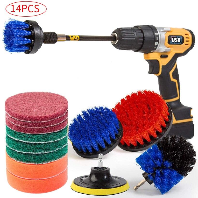 Conjunto de Escova de Broca Telha e Rejunte Conjunto de Limpeza Elétrica Banheira Chuveiro D30