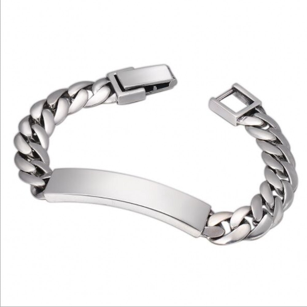 Review 100%925 pure silver jewelry fashion simple glossy Thai silver men and women bracelet men's bracelet s925 silver bracelet for Man