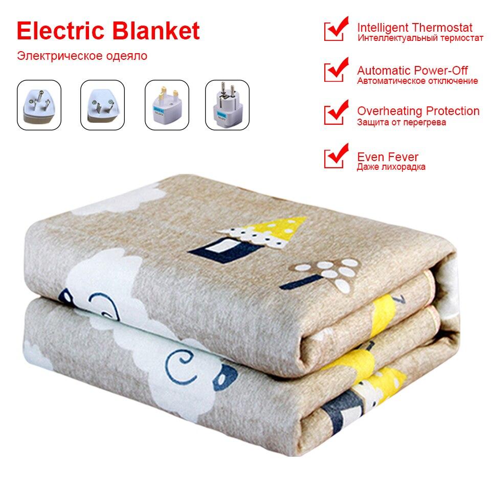 Manta eléctrica de 220V, calentador de doble cuerpo, alfombras cálidas, Manta eléctrica,...