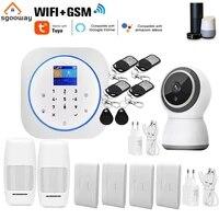 Sgooway     systeme dalarme de securite domestique sans fil  avec clavier tactile Tuya Smart Life WIFI GSM  camera video IP  Alexa Google Home